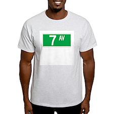 7th Ave., New York - USA Ash Grey T-Shirt