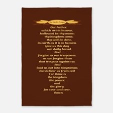 The Lords Prayer Wheat 5'x7'Area Rug