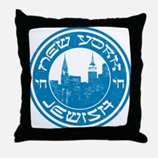 New York Jewish American Throw Pillow