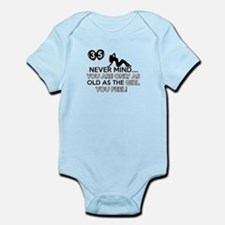 Funny 35 year old designs Infant Bodysuit