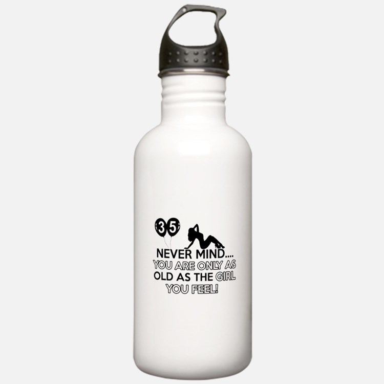 Funny 35 year old designs Water Bottle