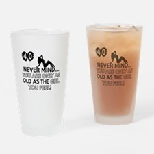 Funny 40 year old designs Drinking Glass