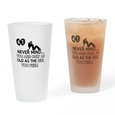 Funny 41 year old designs Drinking Glass