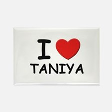 I love Taniya Rectangle Magnet