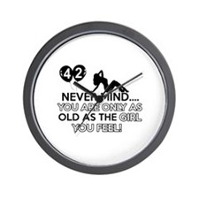Funny 42 year old designs Wall Clock