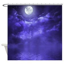 Clouds-Purple-Midnight-Moon-2 Shower Curtain