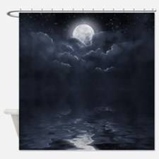 Clouds-Midnight-Moon Shower Curtain