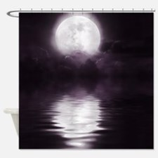 Clouds-Dark-Purple-Moon Shower Curtain