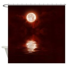 Clouds-BloodRed Shower Curtain