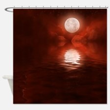 Clouds-BloodRed-2 Shower Curtain
