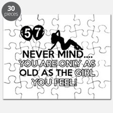 Funny 57 year old designs Puzzle