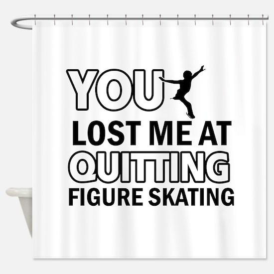 Vector Figure Skating designs Shower Curtain