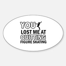 Vector Figure Skating designs Sticker (Oval)