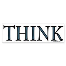 Think Bumper Car Sticker