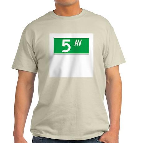 5th Ave., New York - USA Ash Grey T-Shirt