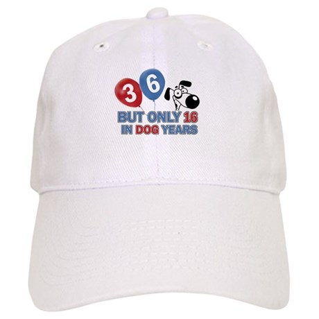 36 year old birthday design Cap