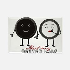 Cookie Couple Rectangle Magnet (100 pack)