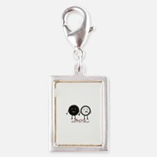 Cookie Couple Silver Portrait Charm