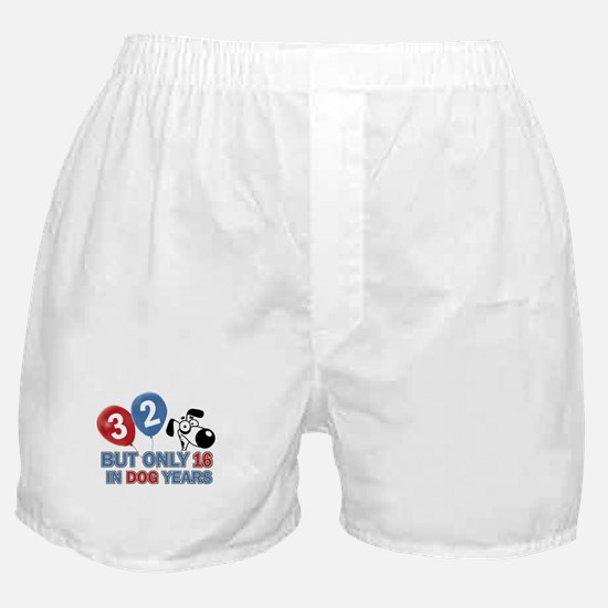 32 year old birthday design Boxer Shorts