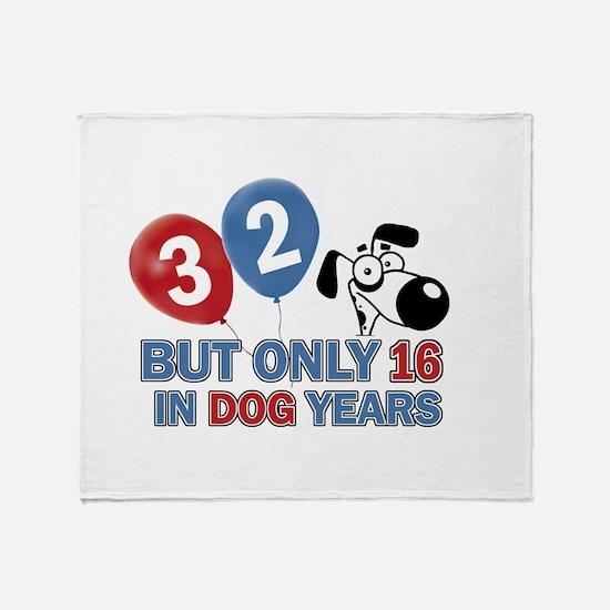 32 year old birthday design Throw Blanket