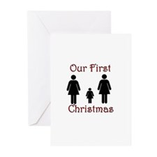 Two Women and Daughter Greeting Cards (Package of