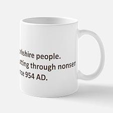 Cutting through nonsense Mug
