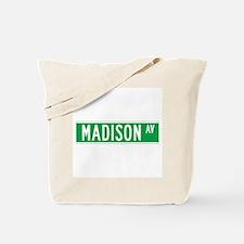 Madison Ave., New York - USA Tote Bag