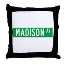Madison Ave., New York - USA Throw Pillow