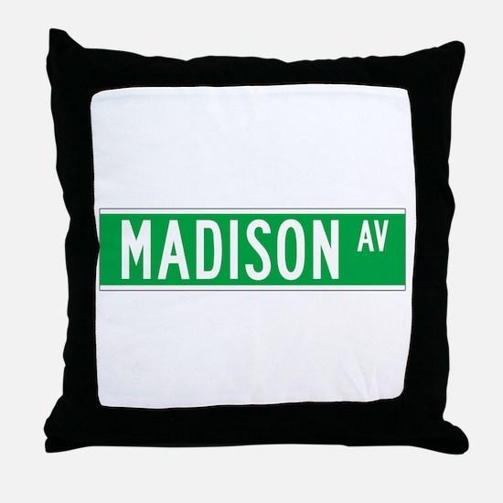 Madison Ave., New York - USA Throw Pillow
