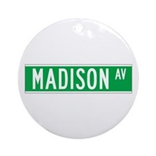 Madison Ave., New York - USA Ornament (Round)