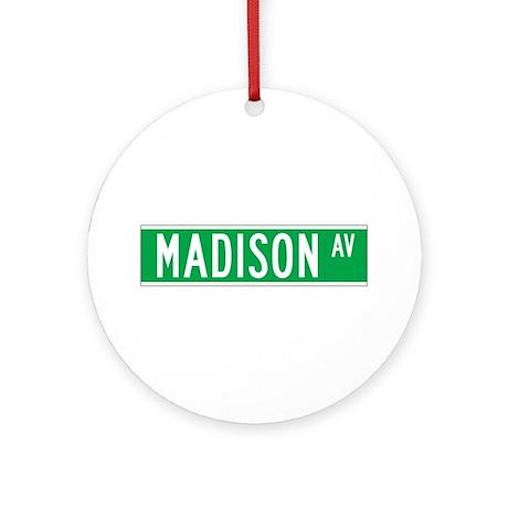 Madison Ave., New York - USA Ornament (Round)
