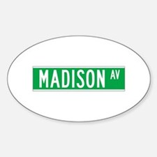 Madison Ave., New York - USA Oval Decal
