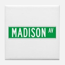 Madison Ave., New York - USA Tile Coaster