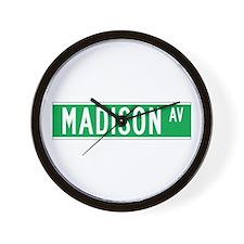 Madison Ave., New York - USA Wall Clock