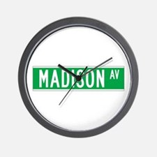 Madison Ave., New York - USA Wall Clock