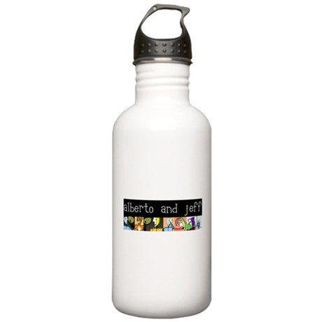 Alberto and Jeff Banner Water Bottle
