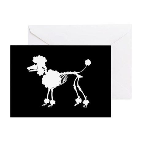 Poodle Skeleton Greeting Card
