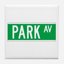 Park Ave., New York - USA Tile Coaster