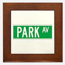 Park Ave., New York - USA Framed Tile