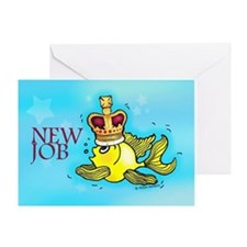 New Job funny cute fish crown Greeting Card