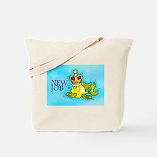 New Job funny cute fish crown Tote Bag