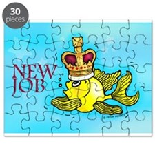 New Job funny cute fish crown Puzzle