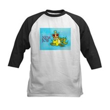 New Job funny cute fish crown Baseball Jersey