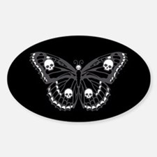 Gothic Skull Butterfly Decal