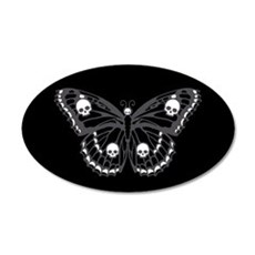 Gothic Skull Butterfly Wall Decal