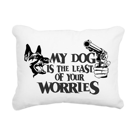 Least of Your Worries Rectangular Canvas Pillow