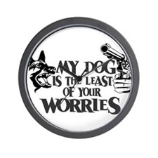 Least of Your Worries Wall Clock