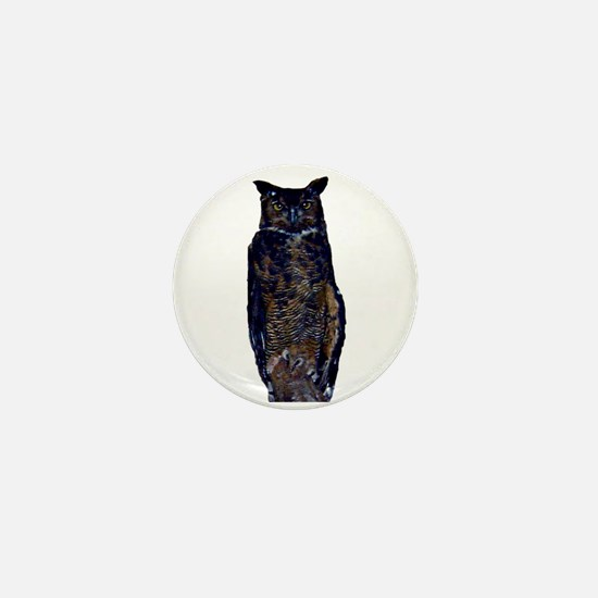 great horned owl Mini Button