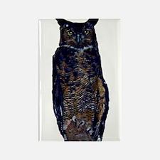 great horned owl Rectangle Magnet