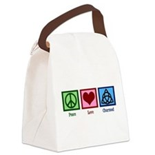 Peace Love Charmed Canvas Lunch Bag
